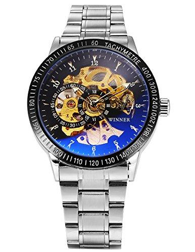 [해외][진폭 변조 피엠 24] AMPM24 남성 자동식 기계식 시계 블루 레이 유리 해골 문자판/[AM PIM 24] AMPM 24 Men`s Automatic Winding Mechanical Wrist Watch Blue Ray Glass Skeleton Dial