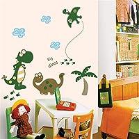 Dtcrzj クリエイティブかわいい恐竜家族アート女の子男の子子供部屋リビングルームの装飾Pvc防水ウォールステッカーDiy壁画アップリケ、C