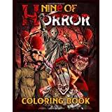 Nine of Horror Coloring Book: Relaxation Color Freak of Horror Coloring Books for Adults with Nightmare Halloween Terrifying
