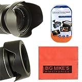 52mm Reversible Digital Tulip Flower Lens Hood For Nikon DF, D90, D3000, D3100, D3200, D3300, D5000, D5100, D5200, D5300, D5500, D7000, D7100, D300, D300s, D600, D610, D700, D750, D800, D810 Digital SLR Cameras Which Has Any Of These Nikon Lenses 24mm f/2.8, 35mm f/1.4 AIS, 35mm f/1.8G, 35mm f/2D, 40mm f/2.8G, 50mm f/1.8, 50mm f/1.2, 50mm f/1.4, 55mm f/2.8, 85mm f/3.5G, 105mm f/2.8, 200mm f/2G, 18-55mm, 200-400mm, 55-200mm [並行輸入品]