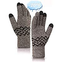 HONYAR Winter -20°F(-29℃) Below Zero Gloves Touchscreen for Women and Men - Double Thickened - Warm Soft Lining