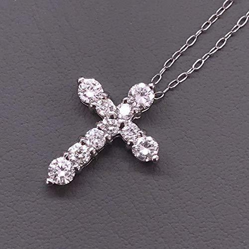 cOne&Only Jewellery 【鑑別書付】0.5ct ダイヤモンド Pt900 プラチナ クロス ペンダント 4月誕生石