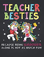 Unicorn Teacher: Physical Education Teacher Besties Unicorn Composition Notebook Lightly Lined Pages Daily Journal Blank Diary Notepad Crazy apple alone is not as much fun 8.5x11