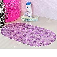 FidgetGear 65 x 35センチメートル滑り止めパッド家庭用バスルームパッドPVC玉石浴槽マットRI 紫の