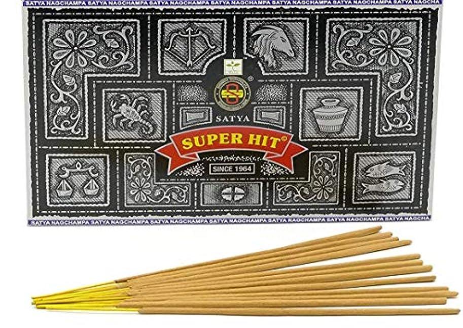 ドリル伝える餌Nag Champa Superhit Incense Sticks (Whole Case) by Incense Sticks & Cones