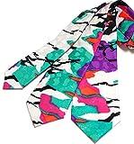 (ディー・プラス・アーツ) dplus arts ネクタイ 幾何学柄 イタリア製シルク 3サイズ展開 (ロングタイ長さ160cm×剣幅9cm)