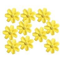 SONONIA 約50個 人工造花 フラワー ヘッド シルクデイジー 結婚式 装飾品 全12色 - 黄