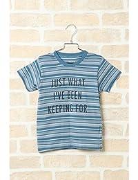 イッカ キッズ(ikka) 【キッズ】先染めボーダーメッセージTシャツ(100~160cm)