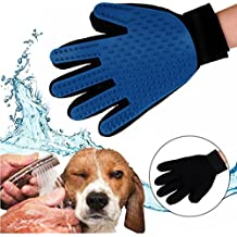 Pet Grooming Massage Glove Mitts, Hair Remover & Bathing Brush Comb for Dog Cat Horses with Long & Short Fur - Efficient & Gentle