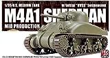 アスカモデル 1/35 アメリカ中戦車 M4A1 シャーマン中期型 極初期型サスペンション付 プラモデル AS-001
