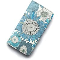 iPhone6sケース iPhone7ケース iPhone 8ケース 手帳型 リバティ スモールスザンナ(ブルー)コーティング SHOKO MIYAMOTO かわいい おしゃれ マグネット無しでカード安全 スマホケース アイフォンケース Liberty