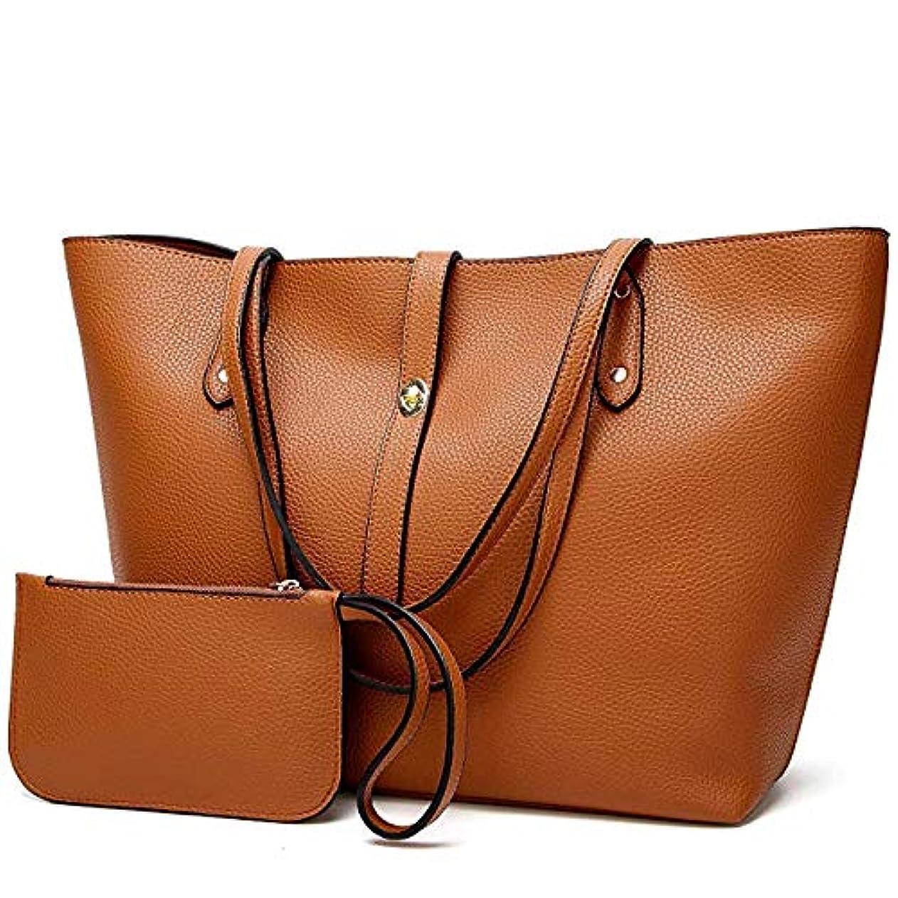 徹底何もないバラ色[TcIFE] ハンドバッグ レディース トートバッグ 大容量 無地 ショルダーバッグ 2way 財布とハンドバッグ