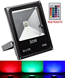 ステージライト RGB イルミネーション led投光器 30W 防水 リモコン カーラー 点滅 屋外 演出 舞台照明 (30W)
