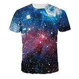 宇宙星空柄 Tシャツ プリントTシャツ 男女通用 Lサイズ