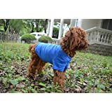 Lovelonglong Pet Clothing Dog Costumes Basic Blank T-Shirt Tee Shirts for Medium Small Dogs Blue XL