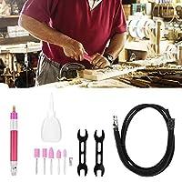 空気圧グラインダーペン、65000RPMペン型ダイグラインダー、高速空気研削彫刻研磨ツール、サイレンサーチューブ付き