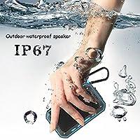 RaiFu スピーカー 自転車ホルダー付き Bluetooth IP67 防水 アウトドア 屋外 多機能 防水 ステレオ ブルートゥース 持ち運び便利 ブラックブルーエッジ