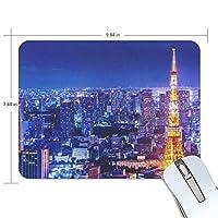 マウスパッド 東京の鉄塔 ゲーミングマウスパッド 滑り止め 19 X 25 厚い 耐久性に優れ おしゃれ
