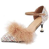 [NIGHT CHERRY] 靴 レディース 美脚 パンプス ピンヒール ポインテッドトゥ パンプス ストラップ 披露宴 39AS White