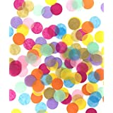 TECCA Confetti - Premium Quality Colorful Tissue Paper Confetti Circles - Specially Crafted for Birthdays, Weddings, Baby Sho