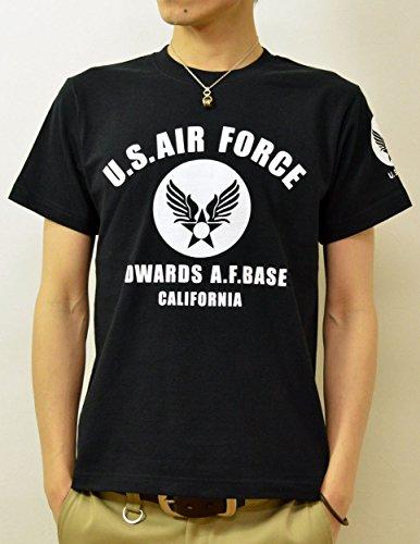 (ジーンズバグ)JEANSBUG U.S. AIR FORCE CA オリジナル エアフォース ミリタリー プリント 半袖 Tシャツ メンズ レディース 大きいサイズ ST-CA XXL クロ×シロ(22)