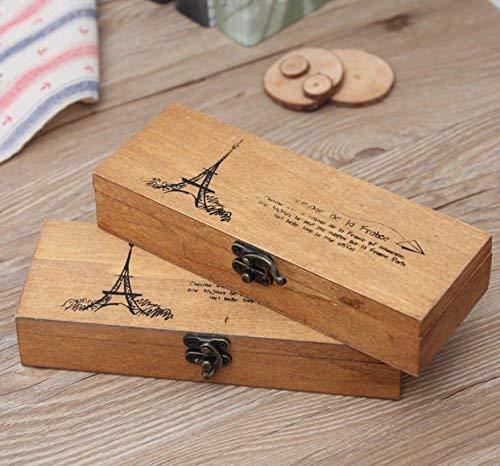 Astraグルメ2- Pack木製鉛筆ケース、木製ペン鉛筆...