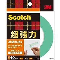 スコッチ 超強力両面テープ(透明素材用) STD-12 12mm×4M