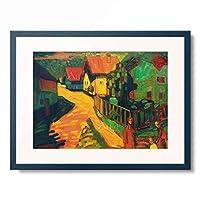 ワシリー・カンディンスキー Wassily Kandinsky (Vassily Kandinsky) 「Murnau: Street with Women」 額装アート作品