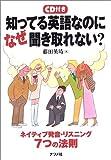 知ってる英語なのになぜ聞き取れない?—ネイティブ発音・リスニング7つの法則