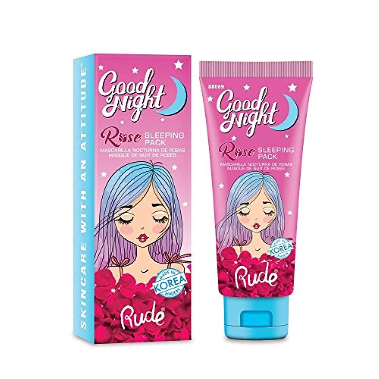 ペナルティまさに変形する(6 Pack) RUDE Good Night Rose Sleeping Pack (並行輸入品)