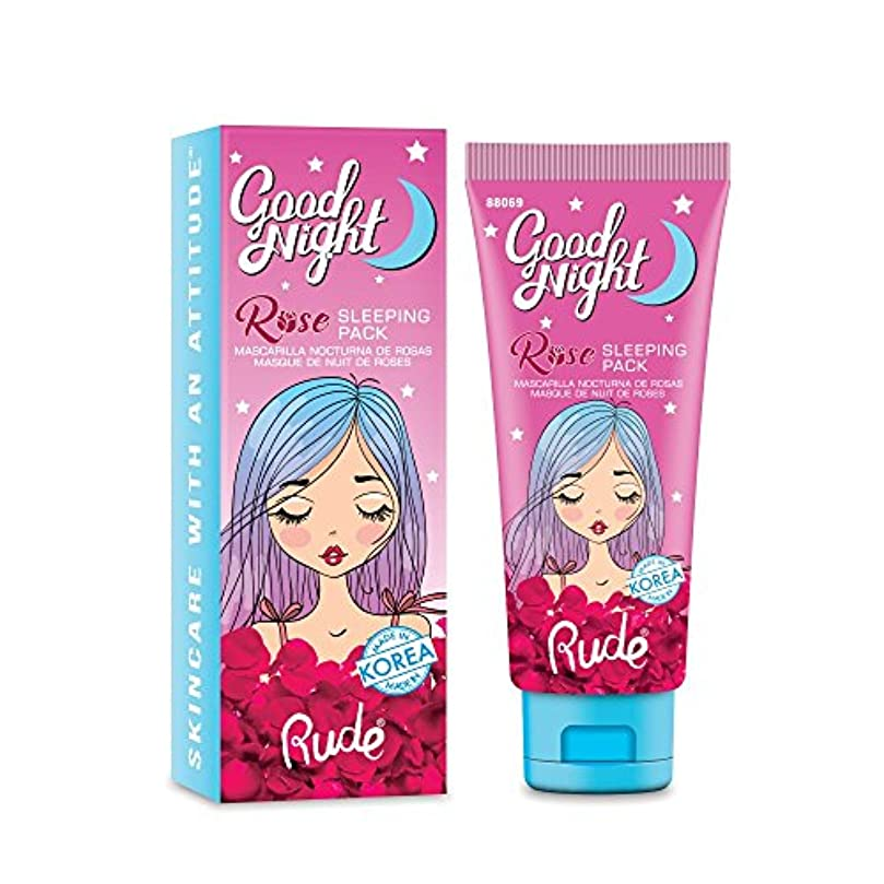 落花生単に居心地の良いRUDE Good Night Rose Sleeping Pack (並行輸入品)