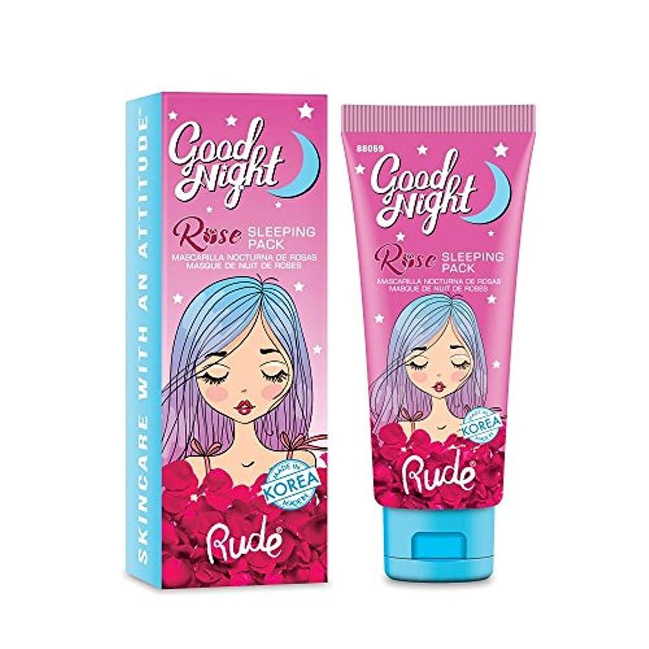 高める古風な不信(3 Pack) RUDE Good Night Rose Sleeping Pack (並行輸入品)