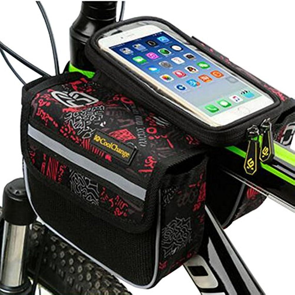 ボット技術的な測るサイクリングパニエサドルバッグフレームバイクバッグバイクハンドルバーバッグ-A1