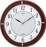 CITIZEN ( シチズン ) 電波 ソーラー 掛け時計 エコライフM768 エコマーク グリーン購入法 適合品 木 茶 4MY768-006
