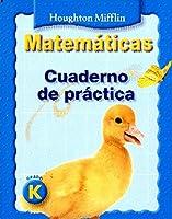 Math, Grade K Practice Book: Houghton Mifflin Math Spanish (Hm Spanish Math National 2007)
