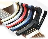 カポタスト フォーク・エレキ用 カポ capo ギターアクセサリ シンプルで使いやすい 赤