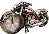 【morningplace】 バイク ハーレー風 目覚まし時計 かっこいい メタリック クラシック インテリア に (ブラック)
