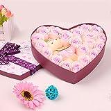 Menshow(メンズショウ) 薔薇 石鹸 プレゼント クマ お誕生日祝い ロマンチック お祝・お見舞い 手洗う クリスマス ギフト 母の日 父の日 昇進祝い 開所祝い 発表会 お歳暮 ハートギフトボックス taoxinhua-fen