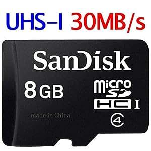サンディスク Sandisk microSDHC 8GB Class4 UHS-1対応30MB/S バルク品