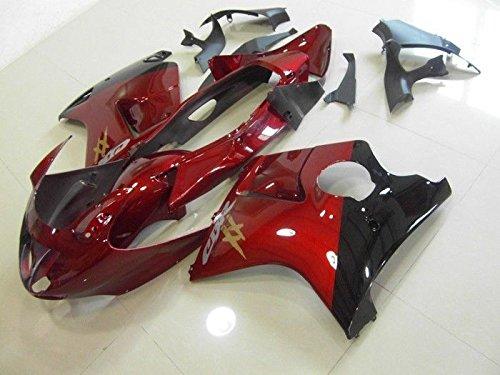 レッドW /ブラックフェアリング射出for 1996–2007ホンダcbr1100X X BlackBIRD 20052006