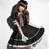 キュートで可愛い ゴスロリ メイド コスプレ衣装 XL/ゴシック&ロリータ コスチューム (XL)