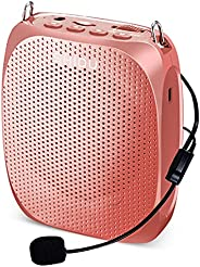 Portable Voice Amplifier SHIDU Personal Speaker Microphone Headset Rechargeable Mini Pa System for Teachers To