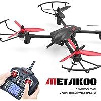 Metakoo クアッドコプタードローン D1 RCドローン 720P HDカメラ付き 大容量 バッテリー容量 初心者用 クアッドコプター 高度保持 3Dフリップ ヘッドレスモード ワンキーリターン