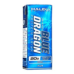 HALEO ブルードラゴン 1パック(200ml)x1ケース(24パック入り) バニラ