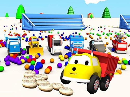 ドーナッツレース :ダンプトラックのイーサンと数字を学ぼう&トランポリンと車と色