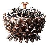 吉祥八宝香炉 線香 仏具 お香立て 工芸品 赤銅色