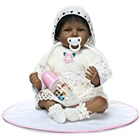 Decdeal NPK 22inch 女の子 ソフトボディ シリコン 赤ちゃん 人形 お世話 おもちゃ