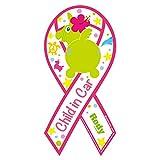 Rody Child in Car -Pink ロディ チャイルド・イン・ カー ピンク リボンマグネット