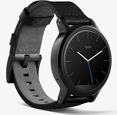 【第2世代】Moto 360 2nd Gen 2015 Smart Watch スマートウォッチ 腕時計 Android Wear iPhone対応 (42mm ブラック) [並行輸入品]