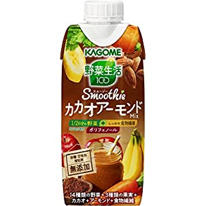 カゴメ 野菜生活 Smoothie カカオアーモンドMix 330ml×12本